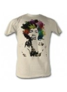 Jimi Hendrix Watercolor - Multi - Band T-Shirt