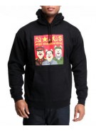 Enjoi Communist Pig P/O Hoodie - Black - Mens Sweatshirt