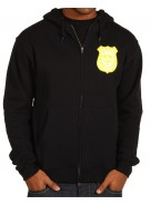 Enjoi Pig Badge Zip Hoodie - Black - Sweatshirt