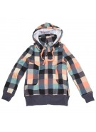 Roxy P Machinery - Papaya Plaid - Women's Sweatshirt