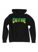 Creature Logo Pullover Hooded L/S - Black - Mens Sweatshirt