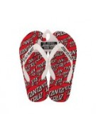 Santa Cruz Dot Flops Flip Flops Red/Wht Juniors - Sandals
