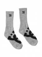 DC Willis Crew Socks - Heather Grey - Men's Sock