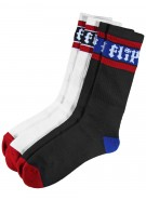 Flip HKD Stripe Socks Black and White 9-11 2 Pairs Mens - Socks