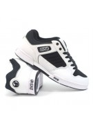 DVS Durham - Black/White Leather - Skateboard Shoes