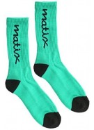Matix Yillow - Men's Socks - Green/Black