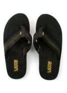 Vans Thresher Plus - Men's Sandals - Black / Spectra Yellow