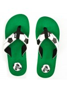 Reef Futbol Goooaaal - Men's Sandals - Black/White/Green