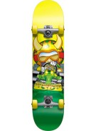 Speed Demons Go-Kart Micro - Yellow/Green - 6.75 - Youth Complete Skateboard