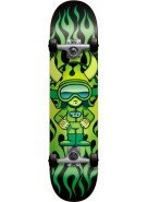 Speed Demons Hot Shot Mini - Black/Green - 7.0 - Youth Complete Skateboard