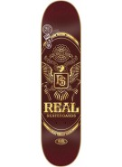 Real Passport Lg - Burgundy - 8.38 - Skateboard Deck