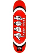 Real Throw Your Hands Up Md - 8.02 - Red - Skateboard Deck
