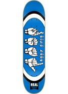 Real Throw Your Hands Up Lg - 8.25 - Blue - Skateboard Deck