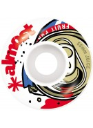 Almost Fruit Juice Wheel - White/Red - 55mm - Skateboard Wheels