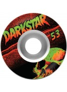 DarkStar Skull Street Formula - White/Black - 53mm - Skateboard Wheels