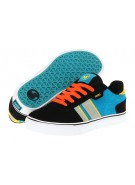 DVS Milan 2 CT - Kids - Black/Blue/Orange Suede - Skateboard Shoes