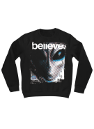 Alien Workshop Believe II Crew Hoodie - Black - Mens Sweatshirt
