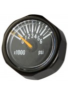 Invert 6000 PSI Micro Gauge - Black