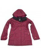 Roxy Illusion Shell - Sangria Plaid - Snowboarding Jacket