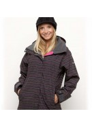 Roxy Jet Setting - Dark Grey Print - Snowboarding Jacket