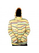 Four Square Fabian - White Fly Polo - Snowboarding Jacket