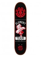 Element Varsity Lion Twig PP - Black - 7.37 - Skateboard Deck