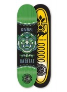 Habitat Angel Bali Mask - Green - 8.0 - Skateboard Deck