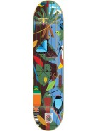 Habitat Monteverde Bamboo Large - Brown/Blue - 8.25  - Skateboard Deck