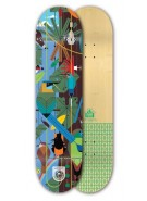 Habitat Monteverde Bamboo Small - Brown/Blue - 7.75 - Skateboard Deck