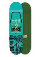 Habitat Point & Shoot Large - Teal - 8.25 - Skateboard Deck