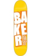 Baker Stacked - Yellow/Orange - 8.0 - Skateboard Deck