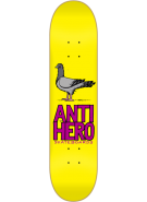 Anti-Hero PigeonClose Up Sm - Yellow/Purple - 7.9 - Skateboard Deck