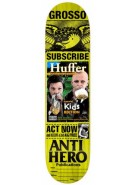 Anti-Hero Grosso Issues - Yellow - 8.75 - Skateboard Deck