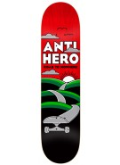 Anti-Hero Nowhere Medium - Black/Red - 8.18 - Skateboard Deck