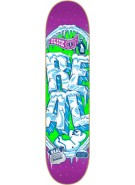Real Pop Slickles II Md - Purple Green - 8.06 - Skateboard Deck
