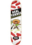 Real Torres Hola - 8.06 - White - Skateboard Deck