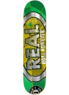 Real Shattered Small - Green/Yellow - 8.02 - Skateboard Deck