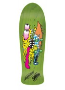 Santa Cruz Skate Slasher Green Reissue 31.13 in 10.1 in - Skateboard Deck