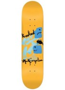 Krooked Goz Blue Face - Orange - 8.18 - Skateboard Deck