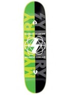 Mystery Symetry Team Deck - Green/Black - 8 - Skateboard Deck