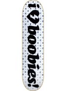 Mystery I Heart Boobies Deck - White/Black - 8 - Skateboard Deck
