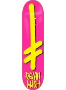 Deathwish Gang Logo - Pink/Yellow - 8.0 - Skateboard Deck