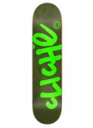 Cliche Handwritten Classic - Forest Green/Fluorescent - 8.25 - Skateboard Deck