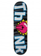 Think Logo Deck Classic Bulb Black - 7.875 - Skateboard Deck