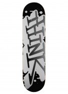 Think 'Spray Tag' Deck - Black/White - 7.625 - Skateboard Deck