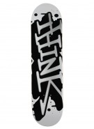 Think 'Spray Tag' Deck - White/Silver - 7.5 - Skateboard Deck