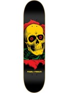 "Powell Peralta Blacklight Series Skull and Sword 5 Ligament - Rasta - 7.75"" - Skateboard Deck"
