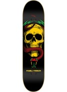 "Powell Peralta Blacklight McGill Skull and Snake 5 Ligament - Rasta - 7.625"" - Skateboard Deck"