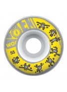 Alien Workshop Keith Haring - Yellow - 55mm - Skateboard Wheels