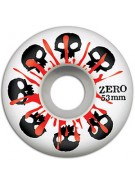 Zero Skulls with Blood - 53mm - White - Skateboard Wheels